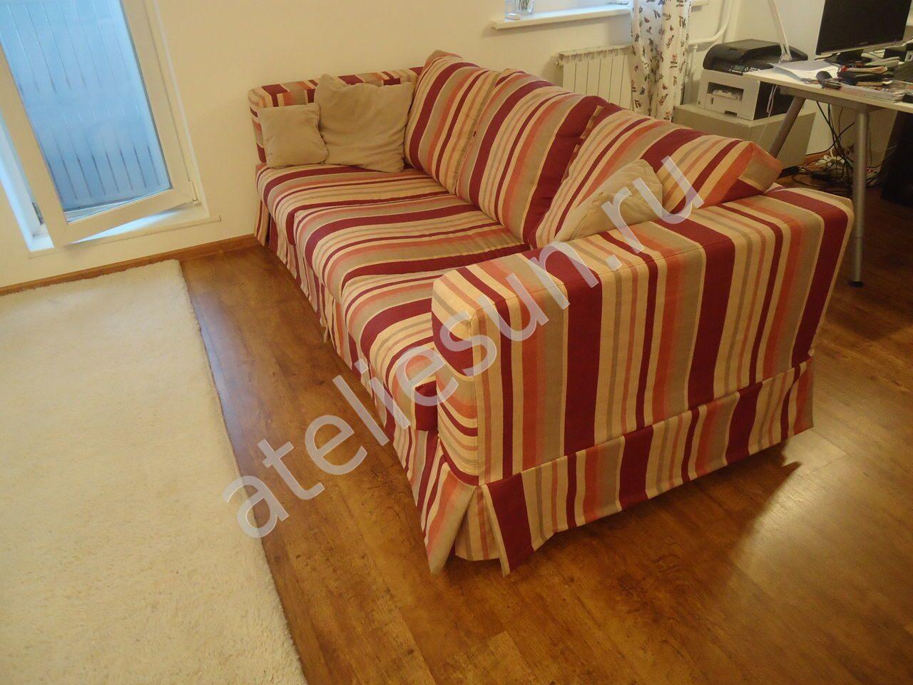 Съемный чехол на угловой диван своими руками 81